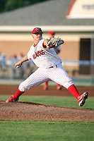 July 19th, 2007:  Thomas Eager of the Batavia Muckdogs, Short-Season Class-A affiliate of the St. Louis Cardinals at Dwyer Stadium in Batavia, NY.  Photo by:  Mike Janes/Four Seam Images