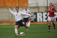 Carli Lloyd vs Norway during the 2010 Algarve Cup