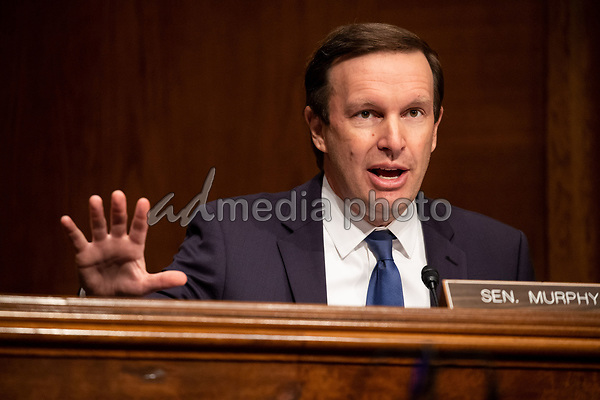 "United States Senator Chris Murphy (Democrat of Connecticut), speaks during the US Senate Health, Education, Labor, and Pensions Committee  hearing titled ""COVID-19: Going Back to School Safely"" on Capitol Hill in Washington, DC on Thursday, June 4, 2020.<br /> Credit: Ting Shen / CNP/AdMedia"