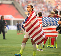 Vancouver, Canada - Sunday, July 7, 2015: The USWNT 5-2 over Japan in the finals of the 2015 World Cup at B.C. Place.