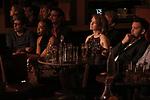 Elisabeth Vincentelli, Noma Dumezweni,  Adam Feldman, Poppy Miller and Alex Price attends The New York Drama Critics' Circle Awards at Feinstein's/54 Below on May 10, 2018 in New York City.