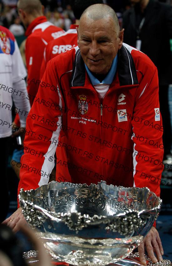 Serbian  Davis Cup team member Nikola Pilic Davis Cup finals, Serbia vs France in Belgrade Arena in Belgrade, Serbia, Sunday, 5. December 2010. (credit & photo: Pedja Milosavljevic/SIPA PRESS)