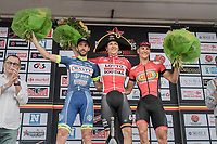 podium:<br /> 1/ Jasper de Buyst (BEL/Lotto-Soudal)<br /> 2/ Kenny Dehaes (BEL/Wanty-Groupe Gobert)<br /> 3/ Joeri Stallaert (BEL/Cibel-Cebon)<br /> <br /> 10th Heistse Pijl 2017