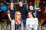 Enjoying the evening in the Brogue Inn on Saturday<br /> Seated l to r: Sharon and Brogan O'Sullivan.<br /> Back l to r: Clodagh O'Sullivan, Edele Lawlor and Shauna O'Sullivan.