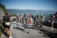 Luke Durbridge (AUS/Orica-BikeExchange) & Michael Matthews (AUS/Orica-BikeExchange) up the Lacets du Grand Colombier (Cat1/891m/8.4km/7.6%)<br /> <br /> stage 15: Bourg-en-Bresse to Culoz (160km)<br /> 103rd Tour de France 2016