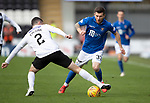 St Mirren v St Johnstone…19.10.19   St Mirren Park   SPFL<br />Matty Kennedy is tackled by Paul McGinn<br />Picture by Graeme Hart.<br />Copyright Perthshire Picture Agency<br />Tel: 01738 623350  Mobile: 07990 594431