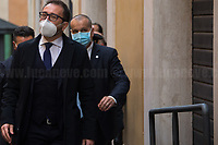 Alfonso Bonafede MP (Former Minister of Justice, Five Star Movement).<br /> <br /> Rome, 06/02/2021. Today, the designated Italian Prime Minister - and former President of the European Central Bank -, Mario Draghi, held his third day of consultations at Palazzo Montecitorio, meeting delegations of the Italian political parties in his attempt to form the new Italian Government.