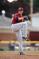 Mahoning Valley Scrappers starting pitcher Brady Aiken (37) during the first game of a doubleheader against the Batavia Muckdogs on August 17, 2016 at Dwyer Stadium in Batavia, New York.  Mahoning Valley defeated Batavia 10-3.  (Mike Janes/Four Seam Images)