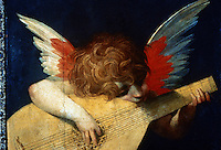 Renaissance Art:  Rosso Fiorentino--Child Playing the Guitar.  Galleria Uffizi.