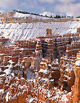 Bryce Canyon National Park, UT<br /> Fresh snow on hoodoos of the Silent City and ridges under the Inspiration Point rim