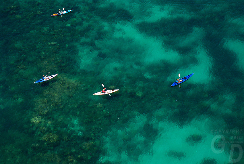 A favorite Kayaking spot, Aerial of the Rockislands, Palau Micronesia