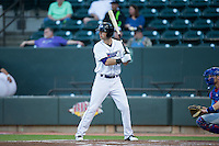 Louie Lechich (20) of the Winston-Salem Dash at bat against the Myrtle Beach Pelicans at BB&T Ballpark on April 18, 2016 in Winston-Salem, North Carolina.  The Pelicans defeated the Dash 6-4.  (Brian Westerholt/Four Seam Images)