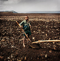 Endla Habte Gabriel, 10, wants to be a farmer when he grows up.