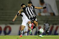 26th August 2020; Estadio Vila Capanema, Curitiba, Brazil; Copa Do Brasil, Parana Clube versus Botafogo; Fabrício of Parana Clube held off the ball by Pedro Raul of Botafogo
