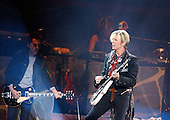 David Bowie; Earl Slick; Perform at Madison Square Garden; New York City; 12/3/2003;<br /> Photo Credit: Eddie Malluk/Atlas Icons.com