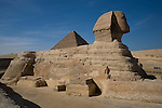 The great Sphinx at the Pyramids of Giza near Cairo, Egypt.