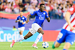 Wilfred Ndidi of Leicester City in action during their 2016-17 UEFA Champions League Quarter-Finals 1st leg match between Atletico de Madrid and Leicester City at the Estadio Vicente Calderon on 12 April 2017 in Madrid, Spain. Photo by Diego Gonzalez Souto / Power Sport Images