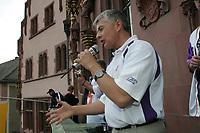 General MAnager Tilman Engel spricht zu den Fans