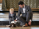 """Matching outfits - Lee White and three year old Tyler White with Chester. <br /> <br /> Everyone loves dressing up for a wedding and now it seems even our pooches are getting in on the glamour action. <br /> <br /> Made to measure, and from the same material as the bridegroom's attire, could matching dogs' waistcoats and suits this be this year's biggest wedding trend?<br /> <br /> Of course, dressing up our four-legged friends is nothing new, there are plenty of options for dog coats, fancy dress and even pyjamas, but an enterprising business owner from Derby claims to have spotted a gap in the market for bespoke canine wedding suits.<br /> <br /> It was the brainwave of 34-year-old Hannah Lancashire, owner of Jon Paul Formal Hire, who was looking for a quirky way to attract people to her stand at a wedding fair.<br /> <br /> She said she came up with the idea to dress a toy dog in a shirt, waistcoat and jacket, in the hope that potential clients would find it amusing and stop to find out more.<br /> <br /> """"In the end,"""" she said, """"we had more than 200 enquiries from that fair alone, from people wanting to include their dog in the wedding party.<br /> <br /> """"So we looked into the idea, and joined forces with Albert and Belle in Swadlincote, who specialise in making dog coats, to create a whole wedding package.<br /> <br /> """"And all the dog suits are hand-made, to the pooch's exact measurements and in the same material as the groom's suit and waistcoat, so the whole wedding party is coordinated and keeps to the same colour theme.""""<br /> <br /> It might seem like a barking mad idea, but Brits have a reputation for being a nation of dog-lovers, so why should our beloved mutts, who are often a huge part of family life, miss out on such a special occasion?<br /> <br /> All Rights Reserved: F Stop Press Ltd. +44(0)1335 418365   www.fstoppress.com"""