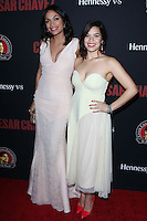 """HOLLYWOOD, LOS ANGELES, CA, USA - MARCH 20: Rosario Dawson, America Ferrera at the Los Angeles Premiere Of Pantelion Films And Participant Media's """"Cesar Chavez"""" held at TCL Chinese Theatre on March 20, 2014 in Hollywood, Los Angeles, California, United States. (Photo by David Acosta/Celebrity Monitor)"""