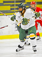 9 February 2008: University of Vermont Catamounts' forward Teddy Fortin, a Freshman from Brunswick, ME, in action against the Boston University Terriers at Gutterson Fieldhouse in Burlington, Vermont. The Terriers shut out the Catamounts 2-0 in the Hockey East matchup...Mandatory Photo Credit: Ed Wolfstein Photo