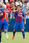 Luis Suarez of FC Barcelona reacts during their La Liga match between Deportivo Leganes and FC Barcelona at the Butarque Municipal Stadium on 17 September 2016 in Madrid, Spain. Photo by Diego Gonzalez Souto / Power Sport Images