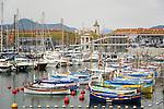 France, Provence-Alpes-Côte d'Azur, Nice: harbour Bassin de la Tour Rouge and church Notre-Dame du Port | Frankreich, Provence-Alpes-Côte d'Azur, Nizza: Hafen Bassin de la Tour Rouge mit der Kirche Notre-Dame du Port