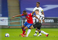 31st October 2020; Liberty Stadium, Swansea, Glamorgan, Wales; English Football League Championship Football, Swansea City versus Blackburn Rovers; Ryan Nyambe of Blackburn Rovers controls the ball while under pressure from Jake Bidwell of Swansea City