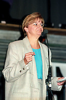 FILE PHOTO - Lorraine Page<br /> ,  Parti Quebecois members and people against the NO in the 1992 Federal referendum gather at Arena Maurice-Richard, October 23, 1992<br /> <br /> Photo : Pierre Roussel - Agence Quebec Presse