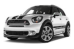 Stock pictures of low aggressive front three quarter view of 2016 MINI Countryman Cooper-S 5 Door Hatchback Low Aggressive