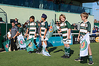 Young supporters prior to the Greene King IPA Championship match between Ealing Trailfinders and Cornish Pirates at Castle Bar , West Ealing , England  on 29 September 2018. Photo by Match action Paul Paxford / PRiME Media Images.