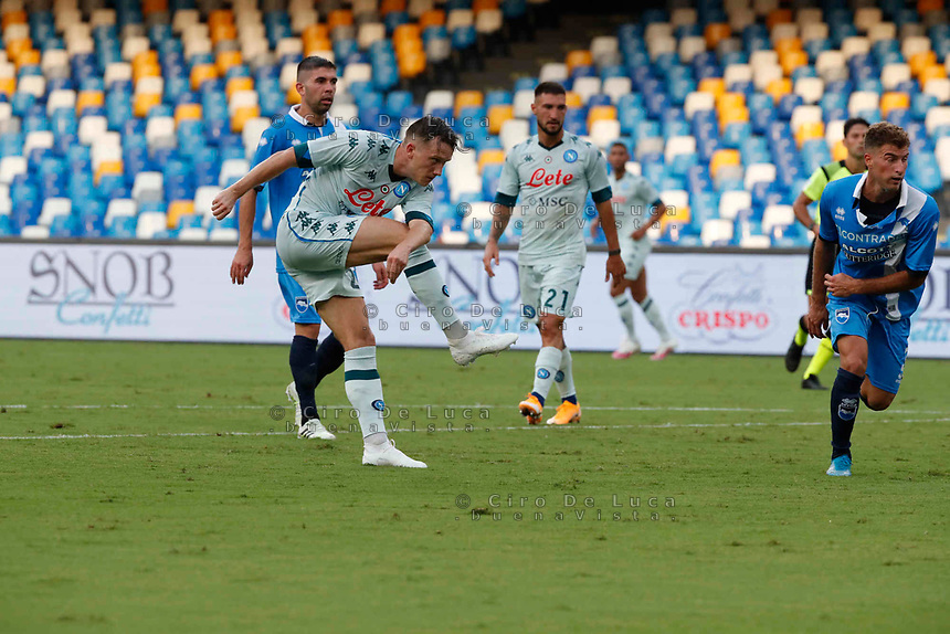 Piotr Zielinski during a friendly match Napoli - Pescara  at Stadio San Paoli in Naples