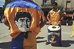 Football fans Diego Maradona T shirt  stadium Buenos Aires Argentina South America 2000s 2002