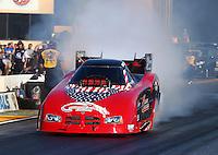 Jul. 25, 2014; Sonoma, CA, USA; NHRA funny car driver Gary Densham during qualifying for the Sonoma Nationals at Sonoma Raceway. Mandatory Credit: Mark J. Rebilas-