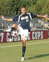 04 September 2009: Chris Sutton #19 of the University of Notre Dame  University during an Adidas Soccer Classic match against Wake Forest at the University of Indiana in Bloomington, In. The game ended in a 1-1 tie..