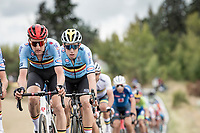Wout van Aert (BEL/Jumbo - Visma) escorted towards a silver medal by his belgian teammates.<br /> <br /> Men's Elite Road Race from Imola to Imola (258km)<br /> <br /> 87th UCI Road World Championships 2020 - ITT (WC)<br /> <br /> ©kramon