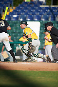 Siena Saints catcher Patrick Ortland (27) during a game against the Pittsburgh Panthers on February 24, 2017 at Historic Dodgertown in Vero Beach, Florida.  Pittsburgh defeated Siena 8-2.  (Mike Janes/Four Seam Images)