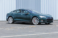 BNPS.co.uk (01202 558833)<br /> Pic: PawelLitwinski/Bonhams/BNPS<br /> <br /> PICTURED: The Tesla, which sold for £48,603 ($67,200), was used by Hanks and his wife Rita Wilson around LA. The British racing green colour was a one-off, specially ordered by Hanks as his favourite colour.<br /> <br /> The airstream trailer superstar Tom Hanks used on film sets for over 30 years has sold for £170,000.<br /> <br /> The award-winning actor bought and personally equipped the trailer in 1993 and made it his 'home away from home' on 18 different movie sets across America.<br /> <br /> The Hollywood star decided to put his 1992 Airstream up for auction at Bonhams in LA, along with the Ford pickup he used to tow it, his high-performance Tesla Model S and a 1980 Toyota Land Cruiser.<br /> <br /> In total the vehicles sold for £368,577.