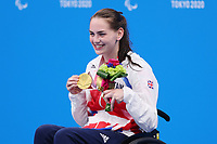 26th August 2021; Tokyo, Japan; KEARNEY Tully (GBR),  Swimming : <br /> Women's 100m Freestyle S5 Medal Ceremony <br /> during the Tokyo 2020 Paralympic Games at the Tokyo Aquatics Centre in Tokyo, Japan.