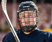 Ben Bahe (Merrimack - 17) -  - The participating teams in Hockey East's first doubleheader during Frozen Fenway practiced on January 3, 2014 at Fenway Park in Boston, Massachusetts.