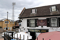 Brentford is famous for being the only football ground in England that has a pub at every corner. The New Inn is the favoured pub for away fans during Brentford vs Charlton Athletic, Sky Bet EFL Championship Football at Griffin Park on 7th July 2020