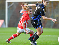 Davinia Vanmechelen  of Standard (25) pictured during a female soccer game between Standard Femina de Liege and Club Brugge YLA on the seventh matchday of the 2020 - 2021 season of Belgian Scooore Womens Super League , saturday 14 th of November 2020  in Angleur , Belgium . PHOTO SPORTPIX.BE | SPP | DAVID CATRY