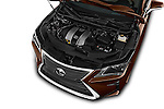 Car Stock 2018 Lexus RX 350 5 Door SUV Engine  high angle detail view
