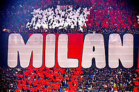 Milan supporters choreography is seen during the Uefa Champions League group B football match between AC Milan and Atletico Madrid at San Siro stadium in Milano (Italy), September 28th, 2021. Photo Andrea Staccioli / Insidefoto