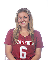 STANFORD, CA - FEBRUARY 13: Ashley Humphrey during a studio portrait session at Maples Pavilion on February 13, 2021 in Stanford, California.