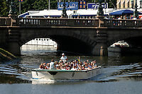 One of the 'Paddan' sightseeing boats that traffic the canals in Gothenburg during the summers.