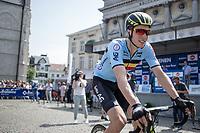 pre race: GC Winner Jens Keukeleire (BEL/Team Belgium) in the (occasionally) Belgian Cyling shirt. <br /> <br /> Baloise Belgium Tour 2017 (2.HC)<br /> Stage 5: Tienen - Tongeren 169.6km