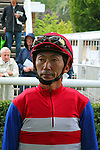 09-11-11 :09-11-11 : Before the race, veteran japanese jockey Masayoshi Ebina, wainting for his ride Nakayama Festa