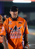 Apr 25, 2014; Baytown, TX, USA; Television personality Jesse James during qualifying for the Spring Nationals at Royal Purple Raceway. Mandatory Credit: Mark J. Rebilas-