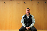 FAO SPORTS PICTURE DESK<br /> Pictured: Brendan Rodgers, manager of Premier League football side Swansea City FC in the away drssing room of the Liberty Stadium, south Wales. Thursday 12 January 2012